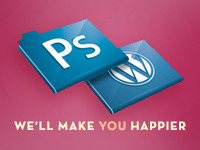 convert your Photoshop file (PSD) into a WordPress-ready Theme