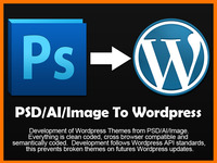 convert PSD to wordpress themes which follow wordpress standards