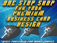 DESIGN and PRINT Specialty Shaped Business Card