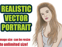 draw Realistic Vector Portrait