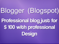 make your blogger blog just for $100 with professional looking design