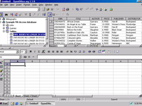 develop an MS Access databse, or a MS Excel spreadsheet
