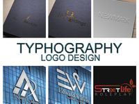 Create a High Quality, Professional and Creative Typrography Logo Design