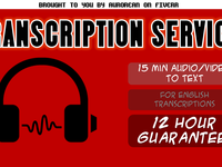 transcribe your audio or video within 12 hours