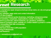 do extensive internet research for 1,000 list