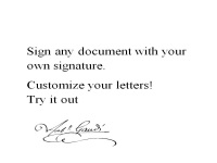 make your personal signature into a computer font