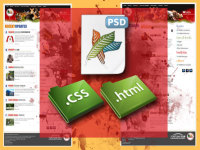 convert your psd file to html