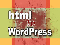 convert your static html design to wordpress theme