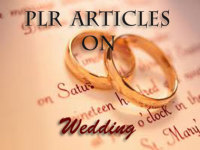 give you 600 High Quality PLR Articles on Wedding