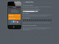 create a custom mobile website, easy to use and fast to download.