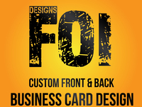 create a Professional Custom Business Card Design