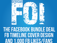 give you 1000 FB fans + Design FB Timeline Cover as a Package Deal