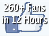 Give u 260+ Facebook Likes / Fans in 12 Hours on your FanPage and Promote Your Fan Page or Website to 10,000 Facebook Users
