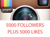 give you 5,000 Instagram FOLLOWERS + 5000 Instagram Likes within 24 Hours