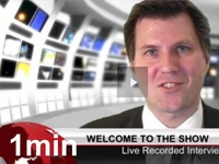 produce a 1 minute Skype news interview show