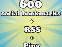 provide 600 social bookmarking + RSS + Ping all links