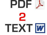 convert a PDF ebook back into a word document to enable editing
