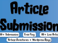 spin & submit your article to 2000 Article Submission Directories and blogs, 160 Instant Backlinks, 80 Live URLs