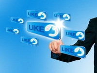 set-up your Facebook account and Twitter account