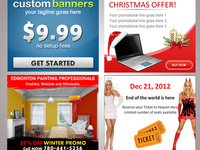 design animated google banner set